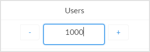 "This image shows ""1000"" typed into the ""Users"" field."